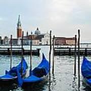 San Giorgio Maggiore And Gondolas Art Print