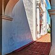 San Luis Rey Courtyard Art Print