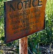 San Manuel Sign Art Print