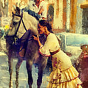 San Miguel Fair In Torremolinos Art Print