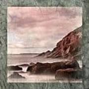 Sand Beach In Texture Art Print
