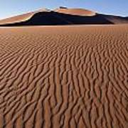 Sand Dunes Against Clear Sky Art Print