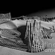 Sand Fence Art Print by Jim Dohms