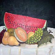 Sandia Con Frutas Art Print