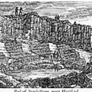 Sandstone Quarry, 1840 Art Print
