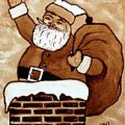 Santa Claus Gifts Original Coffee Painting Art Print