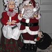 Santa Couple Art Print