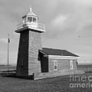 Santa Cruz Lighthouse - Black And White Art Print