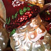 Santa Glass Ornament Art Print