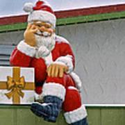 Santa Is Waiting For You Art Print
