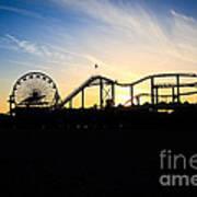 Santa Monica Pier Sunset Photo Art Print by Paul Velgos