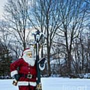Santa's Checking His List Art Print