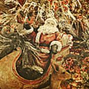 Santa's Vintage Memories Art Print