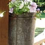 Sap Bucket Planter Art Print