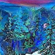 Sapphire Evening Art Print