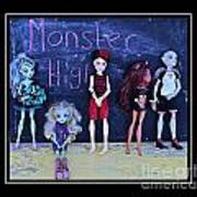 Sarah's Monster High Collection Art Print
