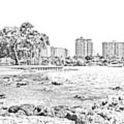 Sarasota Sketch Art Print