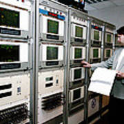 Satellite Control Room Art Print