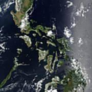 Satellite Image Of The Philippines Art Print