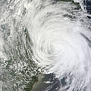 Satellite Image Of Tropical Storm Muifa Art Print