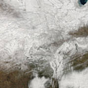 Satellite View Of A Severe Winter Storm Art Print