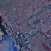 Satellite View Of Buffalo, New York Art Print