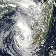 Satellite View Of Cyclone Giovanna Art Print