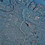 Satellite View Of Newark, New Jersey Art Print