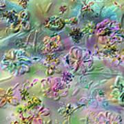 Satin Flowers Art Print