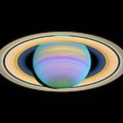 Saturn, Ultraviolet Hst Image Art Print