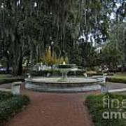 Savannah Square And Fountain Art Print