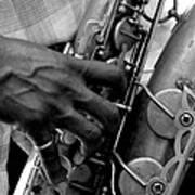 Saxophone Plaayer Art Print