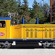 Scale Locomotive - Traintown Sonoma California - 5d19237 Art Print by Wingsdomain Art and Photography