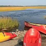 Scarborough Marsh Kayaks Maine Art Print
