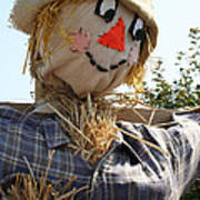 Scarecrow Farmer Art Print