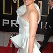Scarlett Johansson Wearing An Armani Art Print