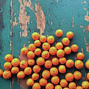 Scattered Tangerines Art Print