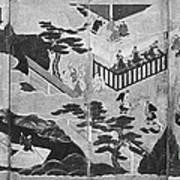 Scenes From The Tale Of Genji Art Print