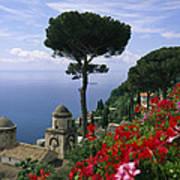 Scenic View Of Villa Rufolo Terrace Art Print