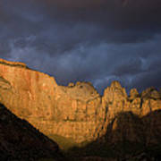 Scenic View Of Zion National Park Art Print