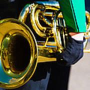 School Band Horn Art Print