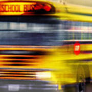 School Bus Rush Art Print