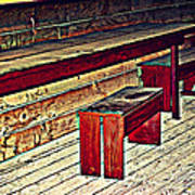 School House Benched And Dusted Art Print