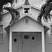 School House In Black And White Art Print