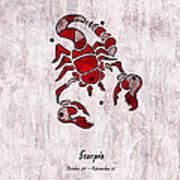 Scorpio Artwork Art Print
