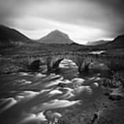 Scotland Sligachan River Art Print by Nina Papiorek
