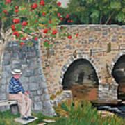 Scottish Man Under Flowering Tree Art Print