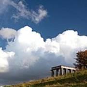 Scottish National Monument On Calton Hill Art Print by Steven Gray