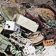 Scrap Metal In Scrap Yard Art Print by Jeremy Woodhouse