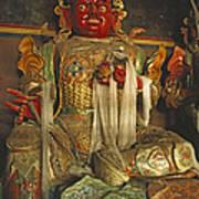 Sculpture Of Wrathful Protective Deity Art Print